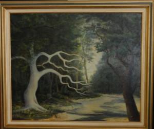 White tree and stream, 1967